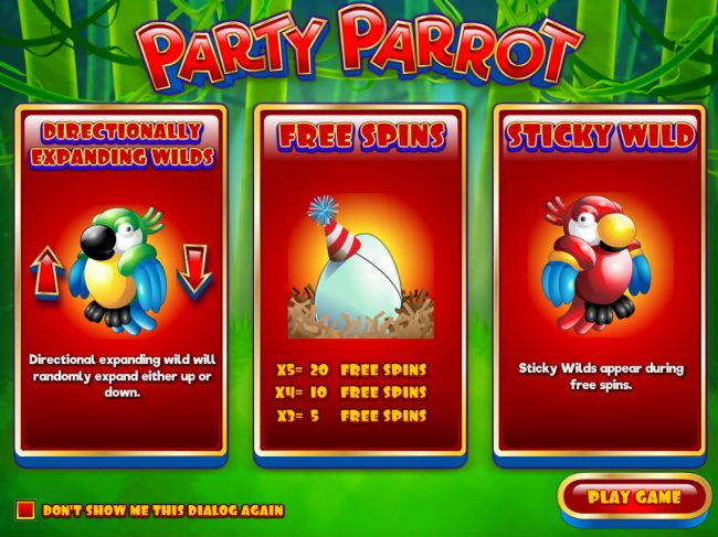 Play slots at Supernova: Supernova featuring the Video Slots Party Parrot with a maximum payout of $50,000