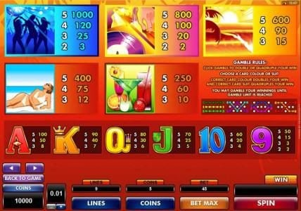 Vegas Paradice featuring the Video Slots Party Island with a maximum payout of $50,000
