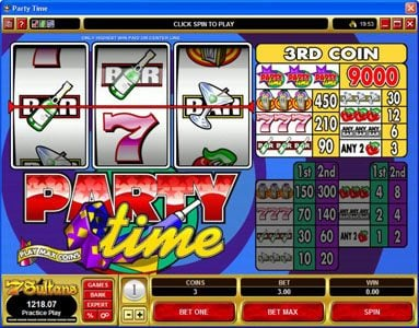 Play slots at Golden Tiger: Golden Tiger featuring the Video Slots Party Time with a maximum payout of $135,000