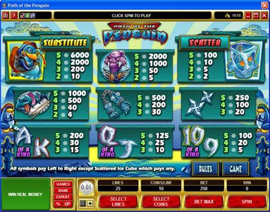 Playamo featuring the Video Slots Path of the Penguin with a maximum payout of $30,000