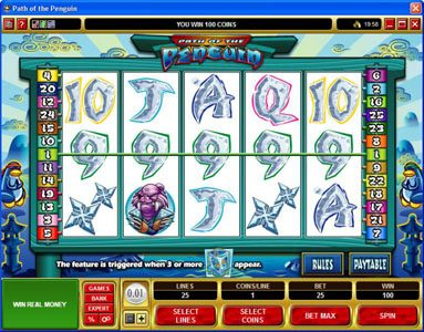 Captain Cooks featuring the Video Slots Path of the Penguin with a maximum payout of $30,000