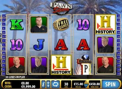 Zinger Spins featuring the Video Slots Pawn Stars with a maximum payout of $276,000