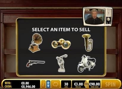 Pawn Bonus Feature - Select an item to sell