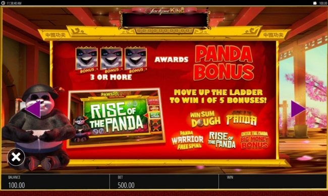 Cheeky Riches featuring the Video Slots Paws of Fury with a maximum payout of $250,000