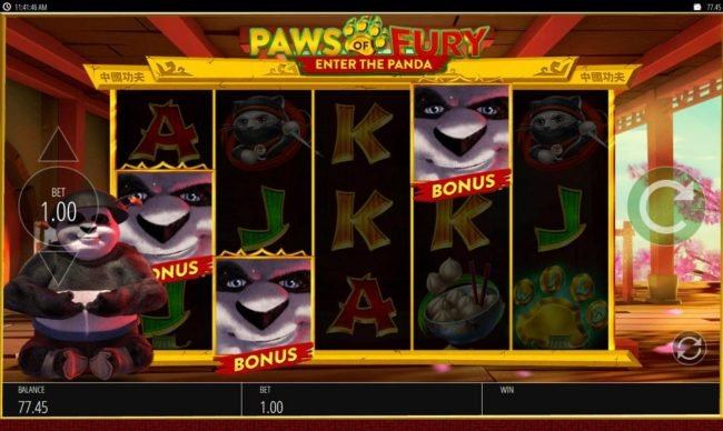 Wicked Jackpots featuring the Video Slots Paws of Fury with a maximum payout of $250,000