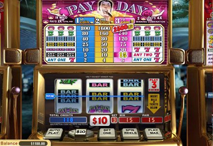 Lincoln featuring the Video Slots Pay Day with a maximum payout of $25,000