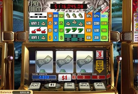 Play slots at Intertops Classic: Intertops Classic featuring the Video Slots Pay Dirt with a maximum payout of Jackpot