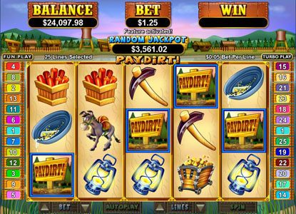 Casino Bellevue featuring the Video Slots Pay Dirt! with a maximum payout of $250,000