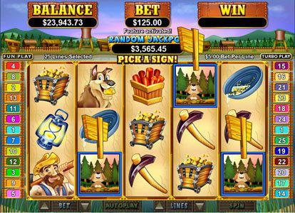Cafe featuring the Video Slots Pay Dirt! with a maximum payout of $250,000