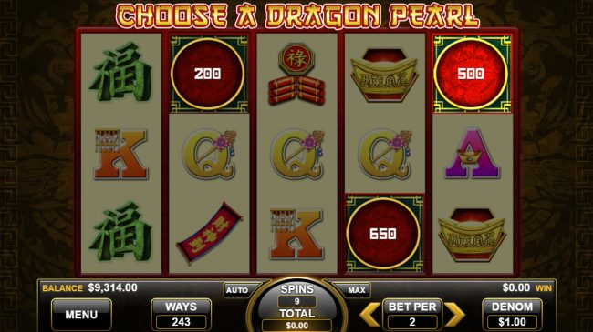 Pearl of the Dragon :: Scatter Win