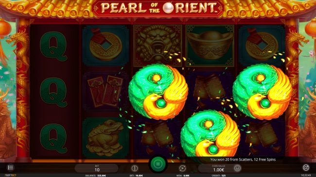 7 Gods Casino featuring the Video Slots Pearl of the Orient with a maximum payout of $5,000