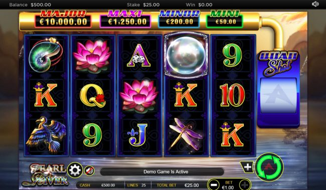 Play slots at Casinia: Casinia featuring the Video Slots Pearl River Quad Shot with a maximum payout of $62,500