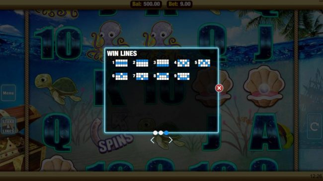 Mobireels featuring the Video Slots Pearls Fortune with a maximum payout of $22,500