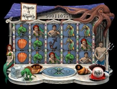 Play slots at Slotland: Slotland featuring the Video Slots Pearls of Atlantis with a maximum payout of $2,400
