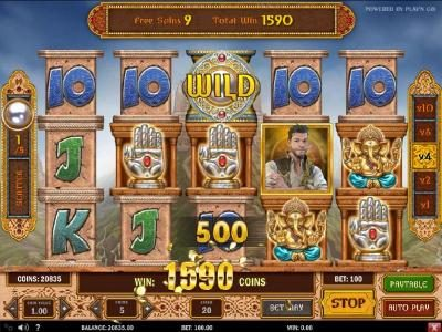 Play slots at Go Wild: Go Wild featuring the Video Slots Pearls of India with a maximum payout of $5,000,000