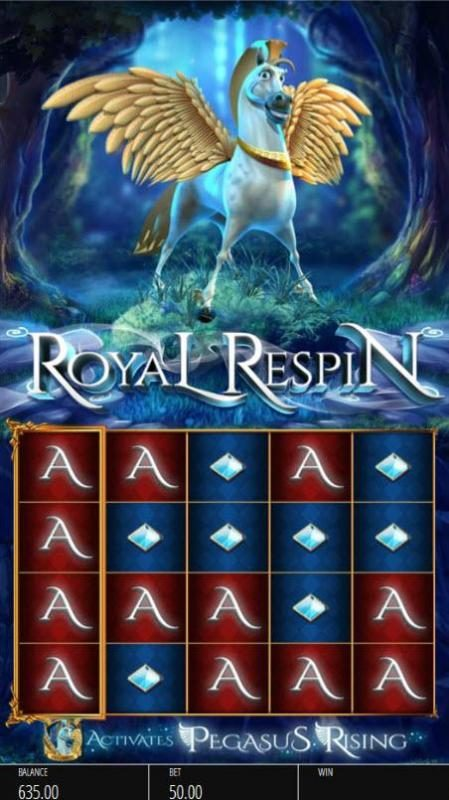 Casumo featuring the Video Slots Pegasus Rising with a maximum payout of $250,000