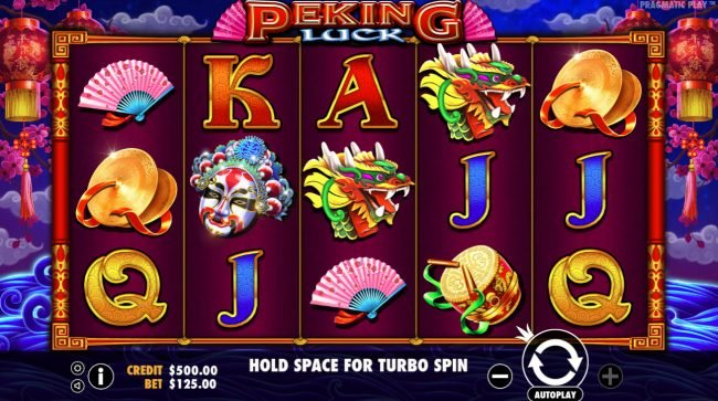 Spiral featuring the Video Slots Peking Luck with a maximum payout of $50,000