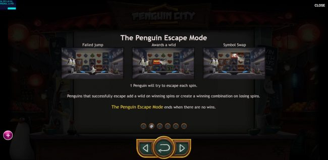 Play slots at Go Wild: Go Wild featuring the Video Slots Penguin City with a maximum payout of $164,700