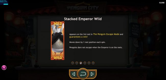 Buran featuring the Video Slots Penguin City with a maximum payout of $164,700