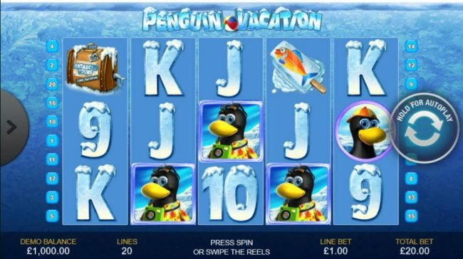 Play slots at Royal Dice: Royal Dice featuring the Video Slots Penguin Vacation with a maximum payout of $10,000