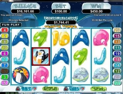 Slotastic featuring the Video Slots Penguin Power with a maximum payout of $250,000