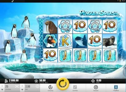 Dreamy 7 featuring the Video Slots Penguin Splash with a maximum payout of $40,000