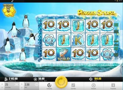 Intercasino featuring the Video Slots Penguin Splash with a maximum payout of $40,000