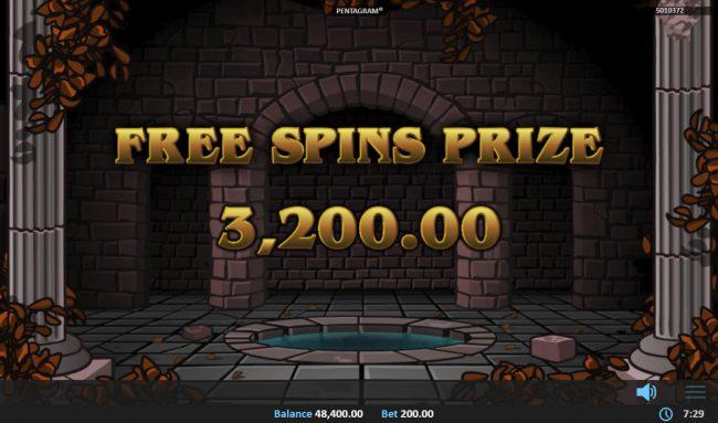Pentagram :: Total Free Spins Payout