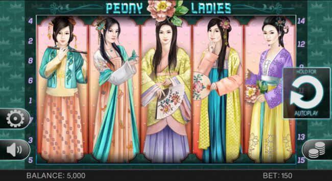 Play slots at Ducky Luck: Ducky Luck featuring the Video Slots Peony Ladies with a maximum payout of $1,000