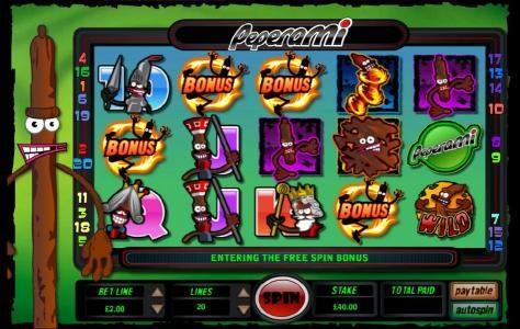 Four bonus symbols triggers bonus feature