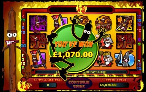 The Free Spins Feature Pays Out a $1,070 jackpot