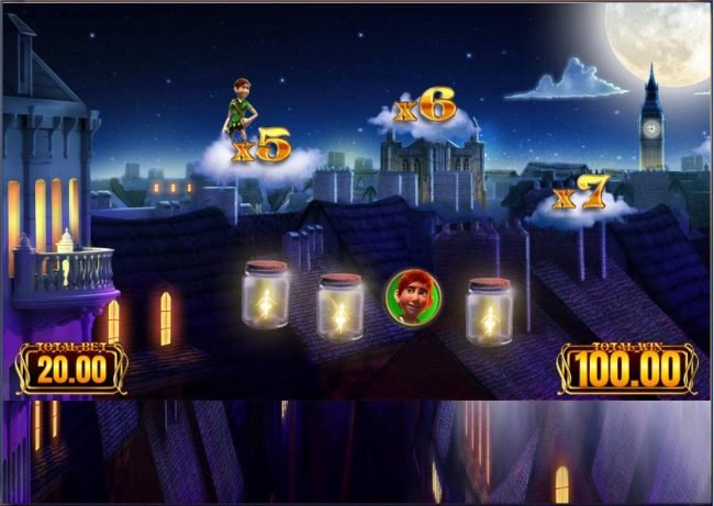 Moon Games featuring the Video Slots Peter Pan with a maximum payout of $12,500
