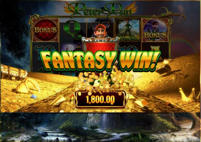 Play slots at CasinoCasino: CasinoCasino featuring the Video Slots Peter Pan with a maximum payout of $12,500
