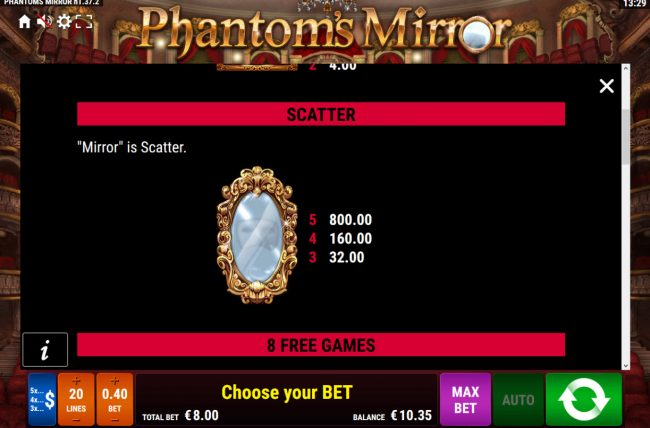 Phantom's Mirror :: Scatter Symbol Rules