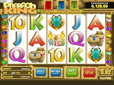 Play slots at Zet Casino: Zet Casino featuring the Video Slots Pharaoh King with a maximum payout of $10,000
