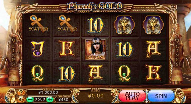 Play slots at Vegas Crest: Vegas Crest featuring the Video Slots Pharaoh's Gold with a maximum payout of $2,225,000