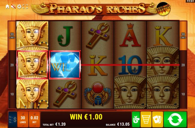 Genesis Casino featuring the Video Slots Pharaoh's Riches Red Hot Firepot with a maximum payout of Jackpot