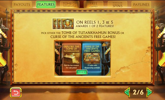 Pharaoh's Treasure Deluxe :: Scatter Symbol Rules