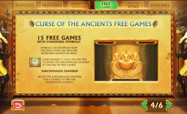 Pharaoh's Treasure Deluxe :: Free Spins Rules