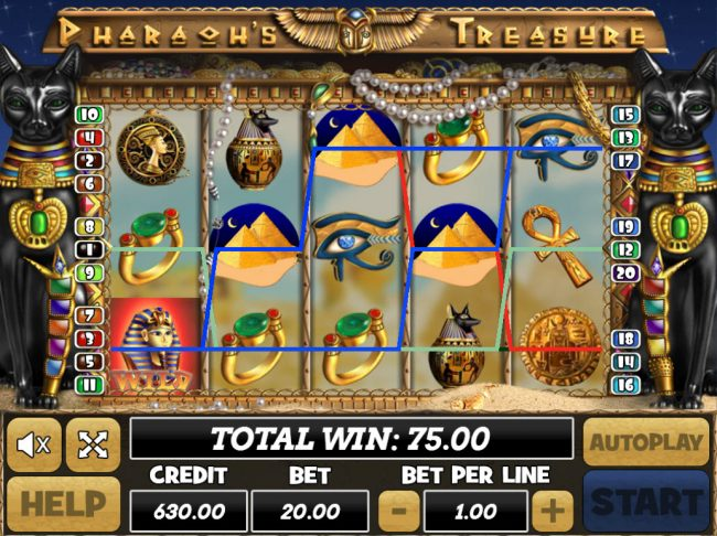Venetian featuring the Video Slots Pharaoh's Treasure with a maximum payout of $40,000