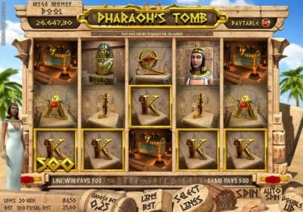 Solara featuring the Video Slots Pharaoh's Tomb with a maximum payout of $4,000