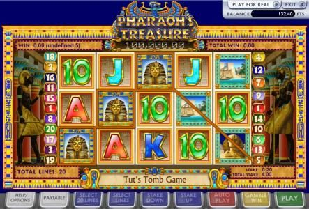 BGO Vegas featuring the Video Slots Pharoah's Treasure with a maximum payout of 5,000x