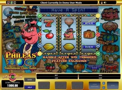 Vera&John featuring the Video Slots Phileas Hog with a maximum payout of $20,000