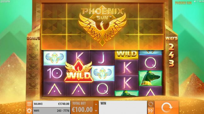 A Phoenix Wild triggers a Phoenix Rising Respin.