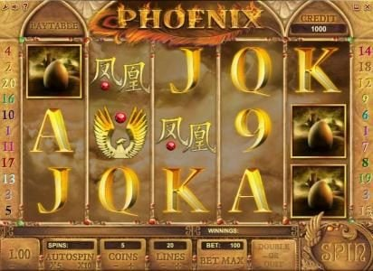 Viggoslots featuring the Video Slots Phoenix with a maximum payout of $500,000