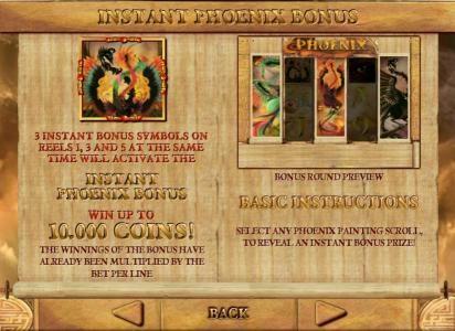 Phoenix :: bonus feature game rules