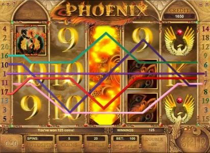 Phoenix :: expanding wild triggers multiple wiing paylines for a modest jackpot