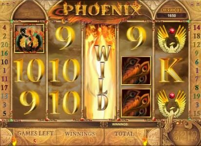 Phoenix :: free spins feature game board