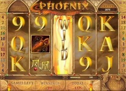 Phoenix :: free spins feature pays out a 1225 coin big win