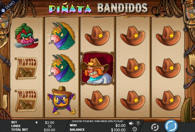 Play slots at Vbet Casino: Vbet Casino featuring the Video Slots Pinata Bandidos with a maximum payout of $200